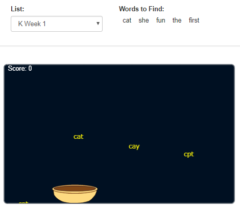 Catch the Spelling Words Spelling Soup Game