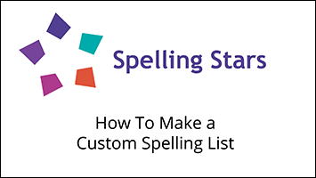 teachers make their own spelling lists for their classroom