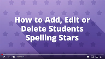 Video to add students to Spelling Stars